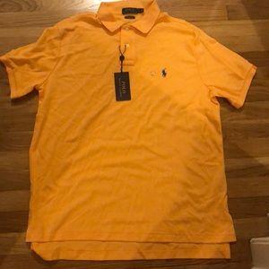 Orange Men's Ralph Lauren Polo